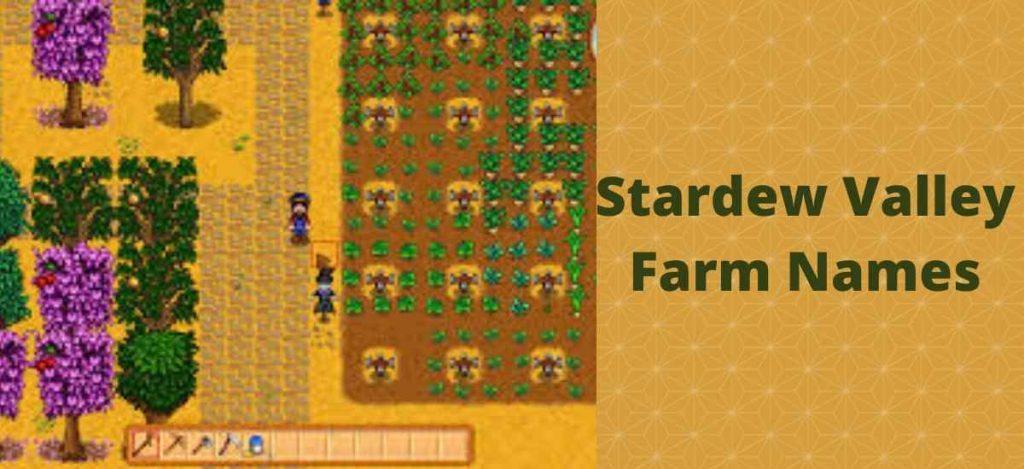 Stardew Valley Farm names
