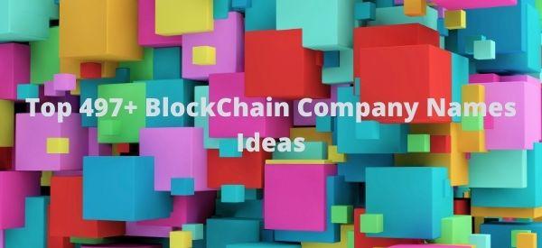 BlockChain Company Names Ideas